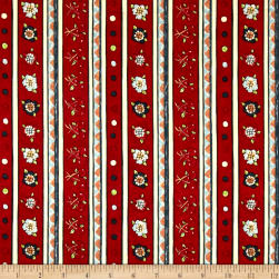 Riverwoods Vintage Vogue Laundry Novelty Stripe Red