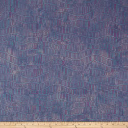 Riverwoods Great Wall Square Wave Purple/Blue Fabric