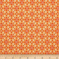 Riley Blake Autumn Love Plaid Orange Fabric