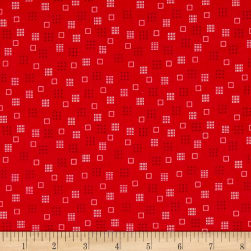 Riley Blake Autumn Love Squares Red Fabric