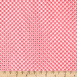 Penny Rose Mon Beau Jardin Check Pink Fabric