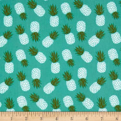 Riley Blake Club Havana Pineapple Aqua Fabric