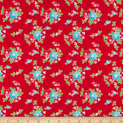 Riley Blake Seaside Floral Red Fabric