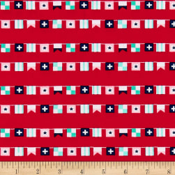 Riley Blake Seaside Flags Red Fabric