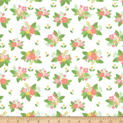 Riley Blake Vintage Adventure Floral White Fabric