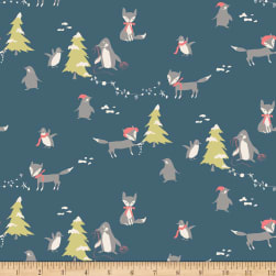 Riley Blake Winter Tales Main Blue Fabric