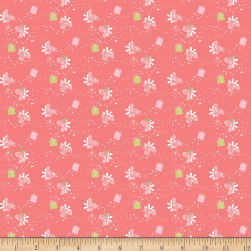 Riley Blake Winter Tales Gift Coral Fabric