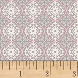 Stof France Stretch Jersey Knit Tali Rose/Taupe Fabric