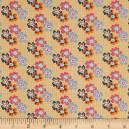 Penny Rose Floral Hues Lawn Bouquet Yellow Fabric