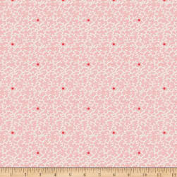 Penny Rose Floral Hues Scribble Pink Fabric