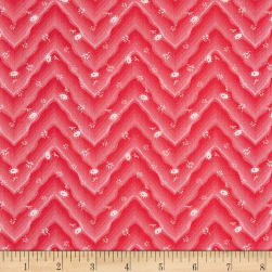Penny Rose Floral Hues Lawn Chevron Red Fabric