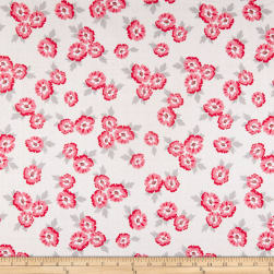 Riley Blake Hello Lovely Floral White Fabric