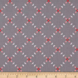 Riley Blake Hello Lovely Diamond Floral Gray Fabric