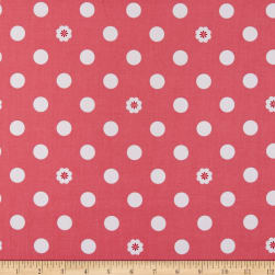 Riley Blake Hello Lovely Dots Pink Fabric