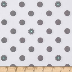 Riley Blake Hello Lovely Dots White Fabric