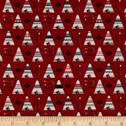 Riley Blake High Adventure 2 Teepee Red Fabric