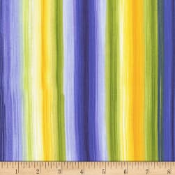 Timeless Treasures Angelica Watercolor Stripe Bright Fabric