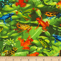 Timeless Treasures Tree Frogs Green Fabric