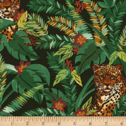 Timeless Treasures Leopard Hiding Forest Fabric