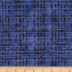 Timeless Treasures Fields Of Blue Geo Plaid Blue
