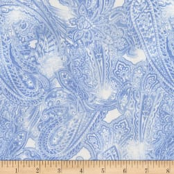 Timeless Treasures Fields Of Blue Paisley Water Fabric