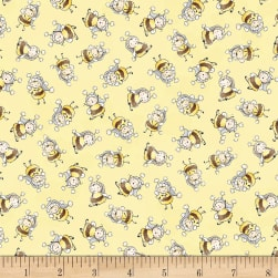 Timeless Treasures Little Star Bunny Bees Yellow Fabric