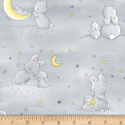 Timeless Treasures Little Star Flannel Bunnies And Little