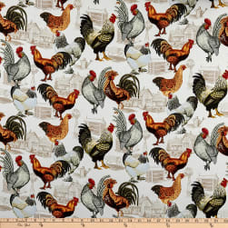Timeless Treasures Country Coop Roosters Foam