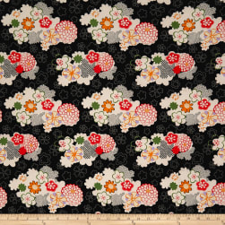 Double Brushed Spandex Jersey Knit Retro Floral Garden