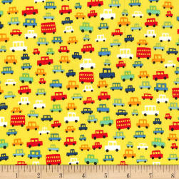Michael Miller Move Along Toot Toot Brite Fabric