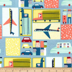 Michael Miller Move Along Move Along Mint Fabric