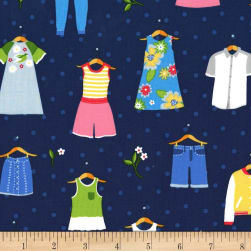 Michael Miller Paper Doll Park Dress Up Summer