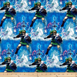 Springs Creative Nintendo Zelda Skyward Sword Blue Fabric