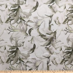 Telio Digital Printed Linen Abstract Ecru Olive Fabric
