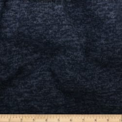 Telio Knit Knack Brushed Sweater Knit Navy Fabric