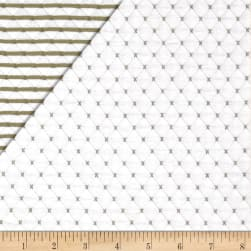 Telio Star Quilted Knit Off White Fabric