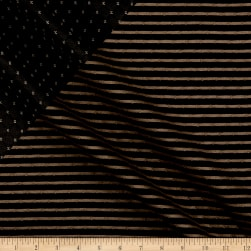 Telio Star Quilted Knit Black Fabric