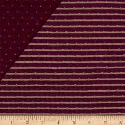 Telio Star Quilted Knit Bordeaux Fabric