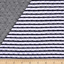 Telio Star Quilted Knit Grey/Navy Fabric