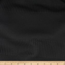 Telio Parallel Rib Poly Spandex Knit Black Fabric