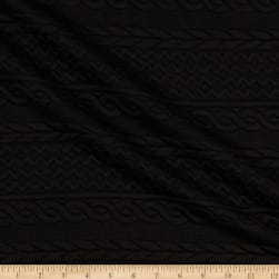 Telio Cable Fable Quilt Knit Black Fabric
