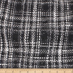 Telio Frost Poly Tweed Black Grey Fabric