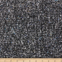 Telio Tweed Poly Wool Mix Black Fabric