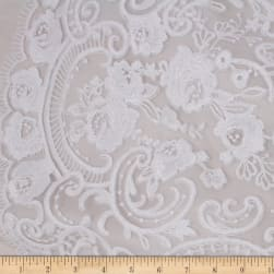 Telio Therese Nylon Rayon Mesh Embroidey Sequin Floral