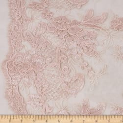 Telio New Trillium Corded Lace Floral Blush Fabric