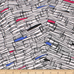Misora Crepe De Chine Polyester Print Abstract Royal