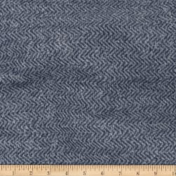 Telio Portland Herringbone French Terry Fleece Knit Indigo