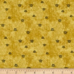Paintbrush Studio Bee Kind Bees Gold Fabric