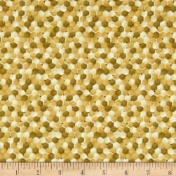 Paintbrush Studio Bee Kind Abstract Gold Fabric