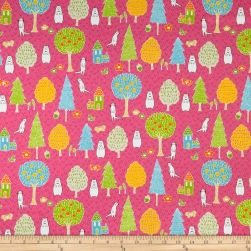 Paintbrush Studio Otter Romp Novelty Pink Fabric